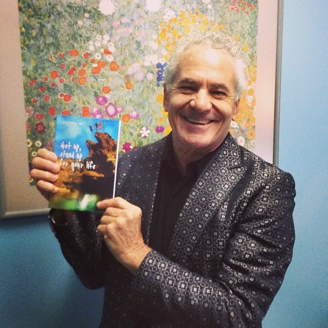Dr Gary with his book